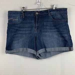 Faded Glory Blue Hemed Shorts